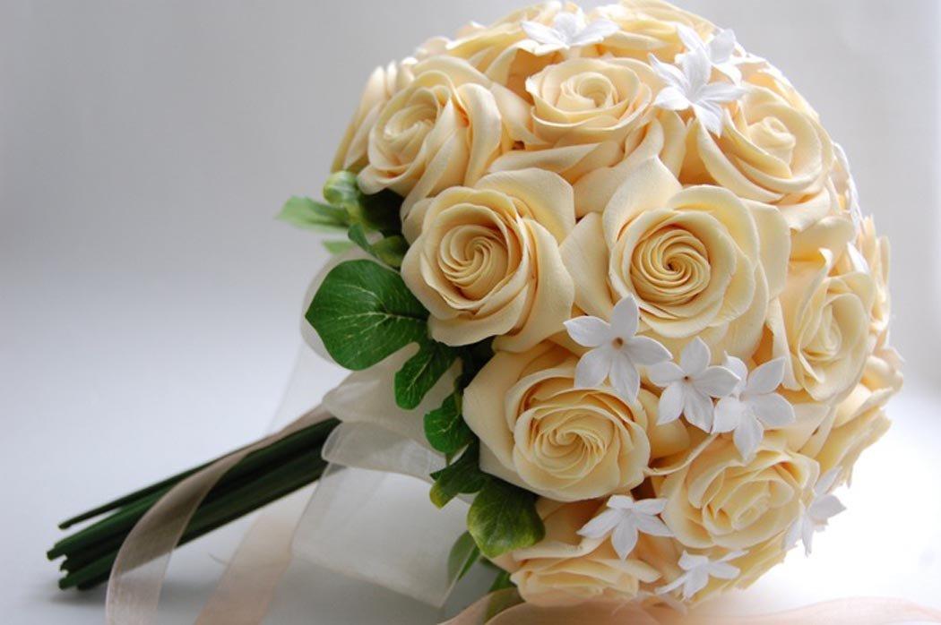 Роза официальный, свадебный букет своими руками фото
