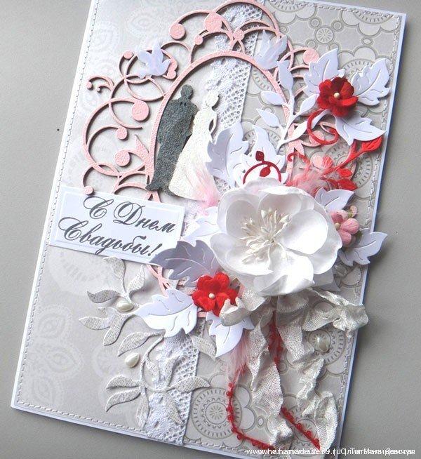 Красивые рождество, свадебные открытки из скрапбукинга своими руками