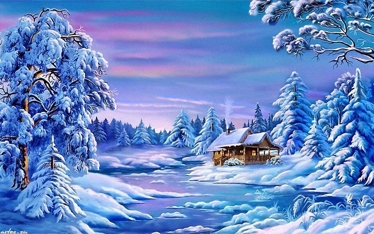 красивые картинки из сказок о зиме телефонном