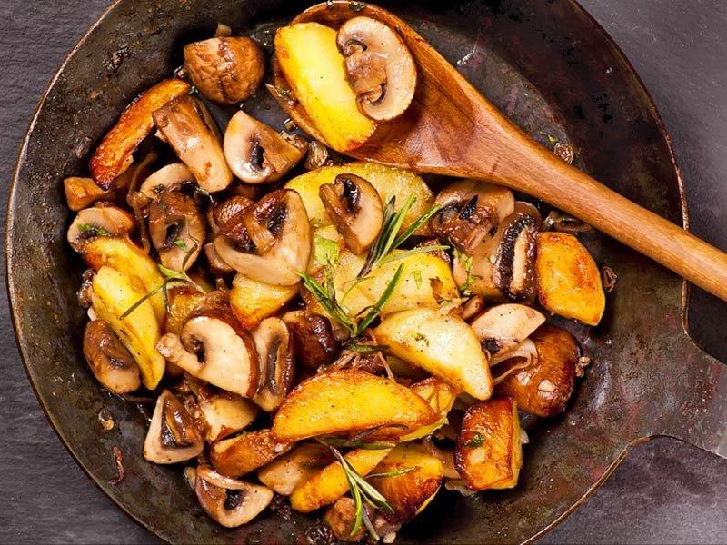 Картошка с грибами жареная картинки