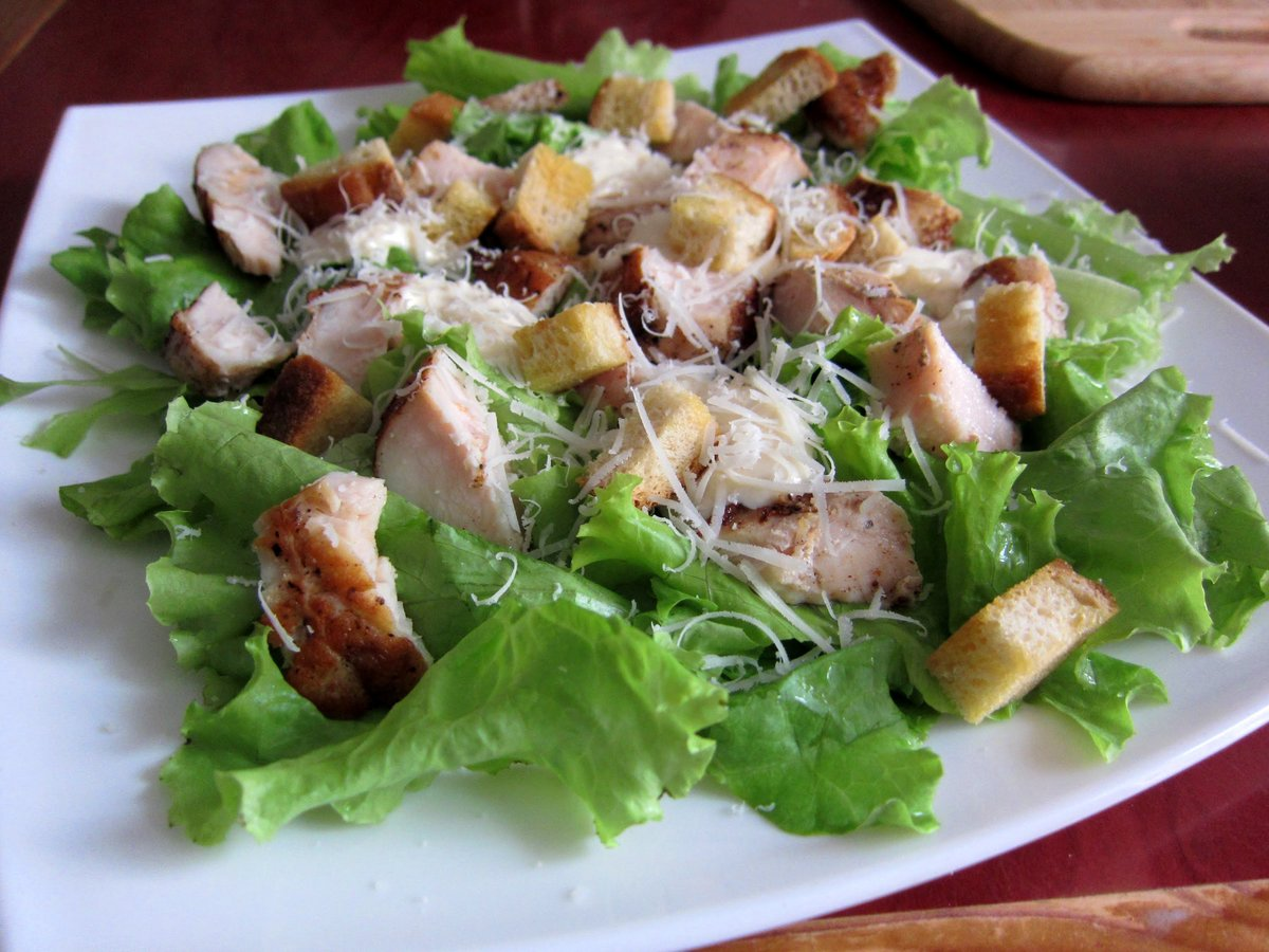 Приготовление салат цезарь рецепт