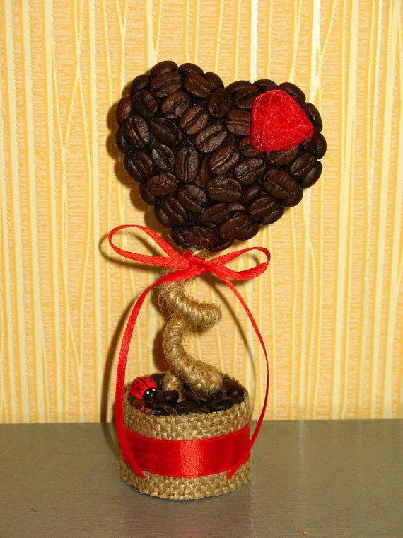 фотографией кофейное сердце с