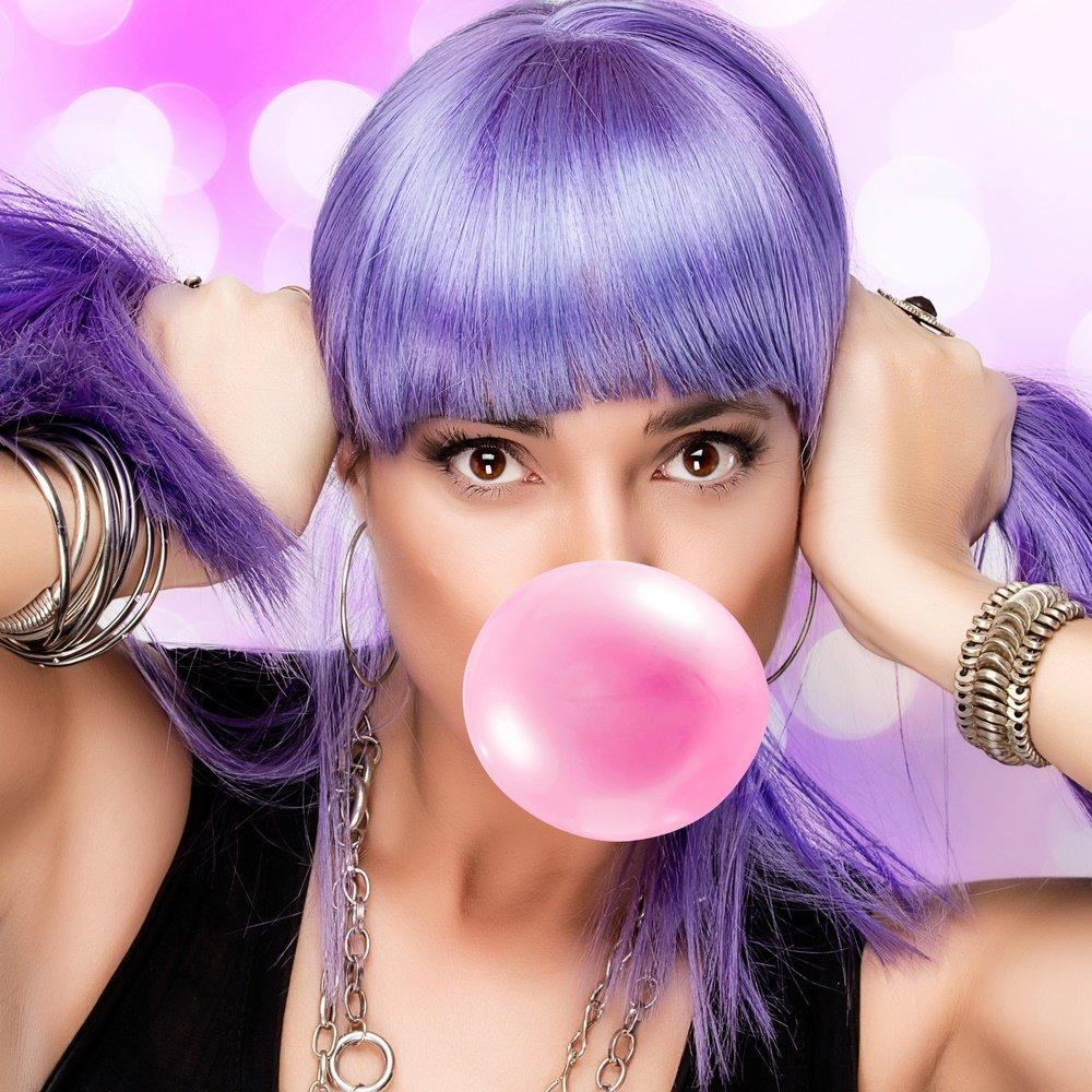 Фиолетовые волосы картинки