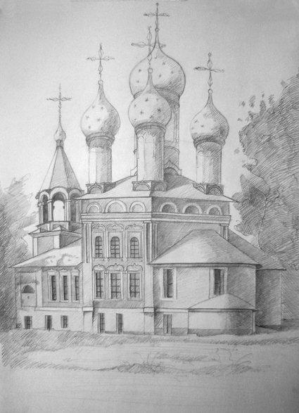 Картинки дед, монастырь картинки карандашом