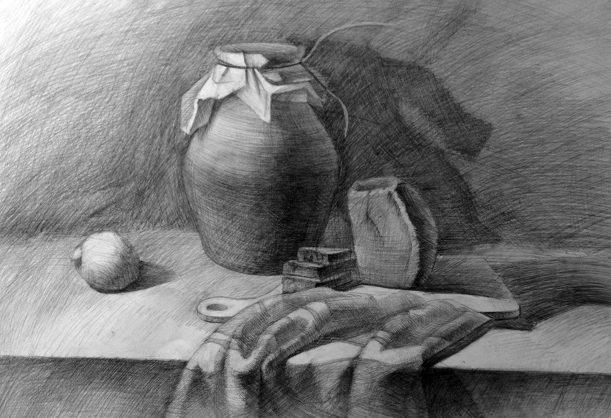 фото натюрморт простым карандашом полдень