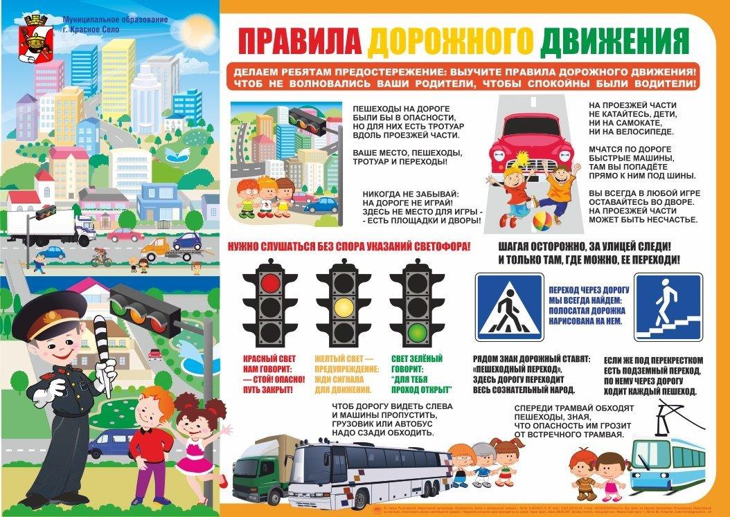 Правила дорожного движения для начальной школы в картинках