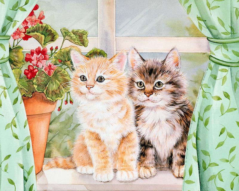 Картинки с днем рождения коты и цветы, мерцающие