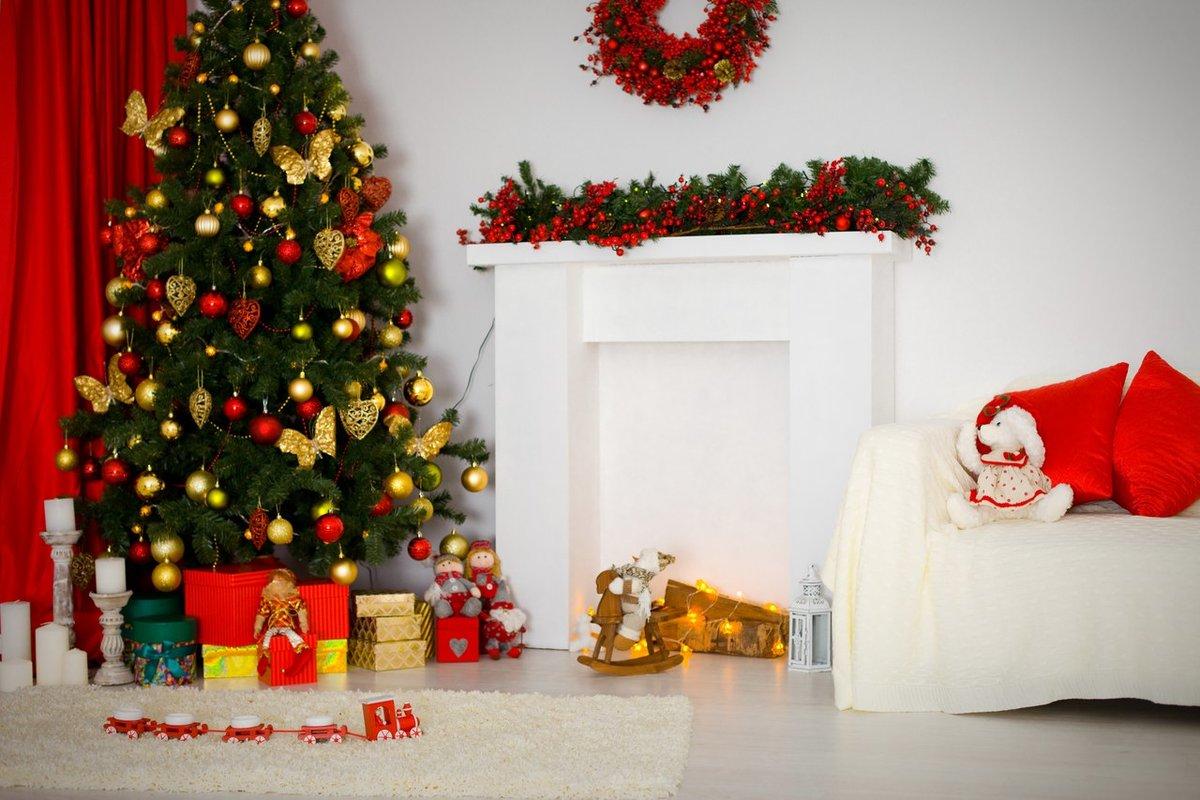 как украсить фон для новогодней фотосессии беззаботный