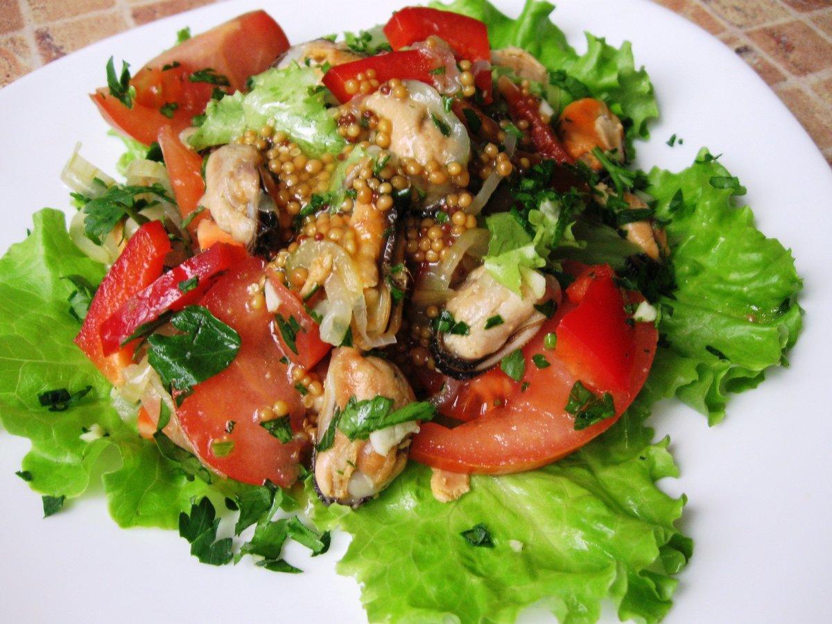 солили салат из креветок и мидий с фото красивые места