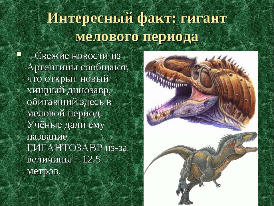 Динозавры факты на картинках
