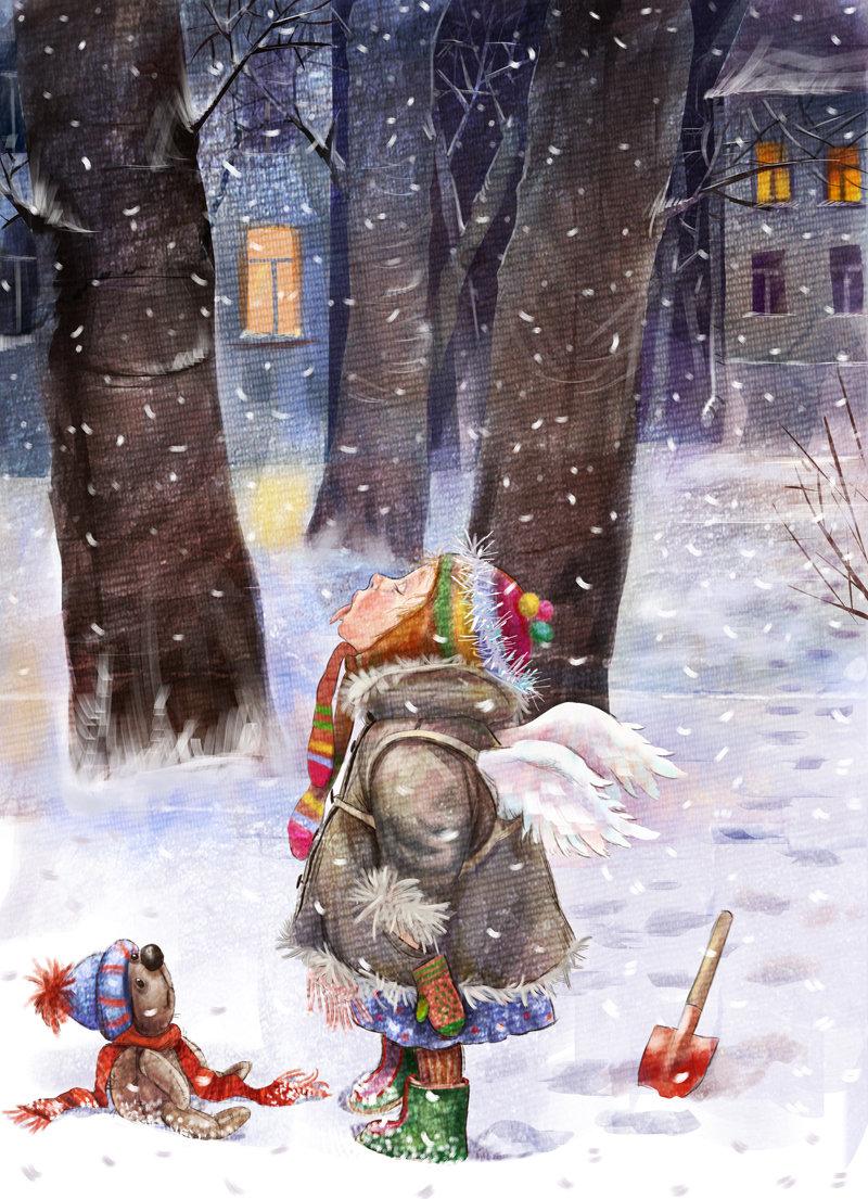 Снежки открытки, крещение господня картинка