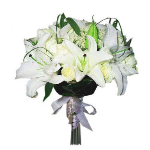 Свадебные букеты с лилий цены днепропетровск, невесты сиреневых тюльпанов