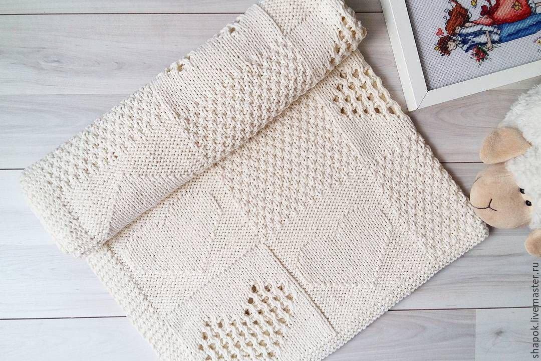 Для вязания детского пледа вам потребуется: г белой пряжи вaby cashmerino (55% мериносовой шерсти, 33% микроволокна, 12% кашемира.