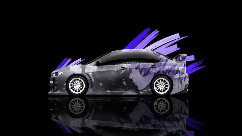 Mitsubishi Lancer Evolution X JDM Side Anime Aerography