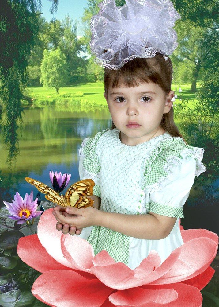 Шаблон фото дети