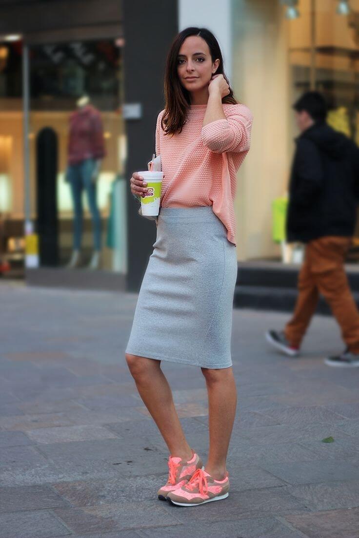 fca63ad879f ... длинную Советы с чем носить серую юбку - карандаш