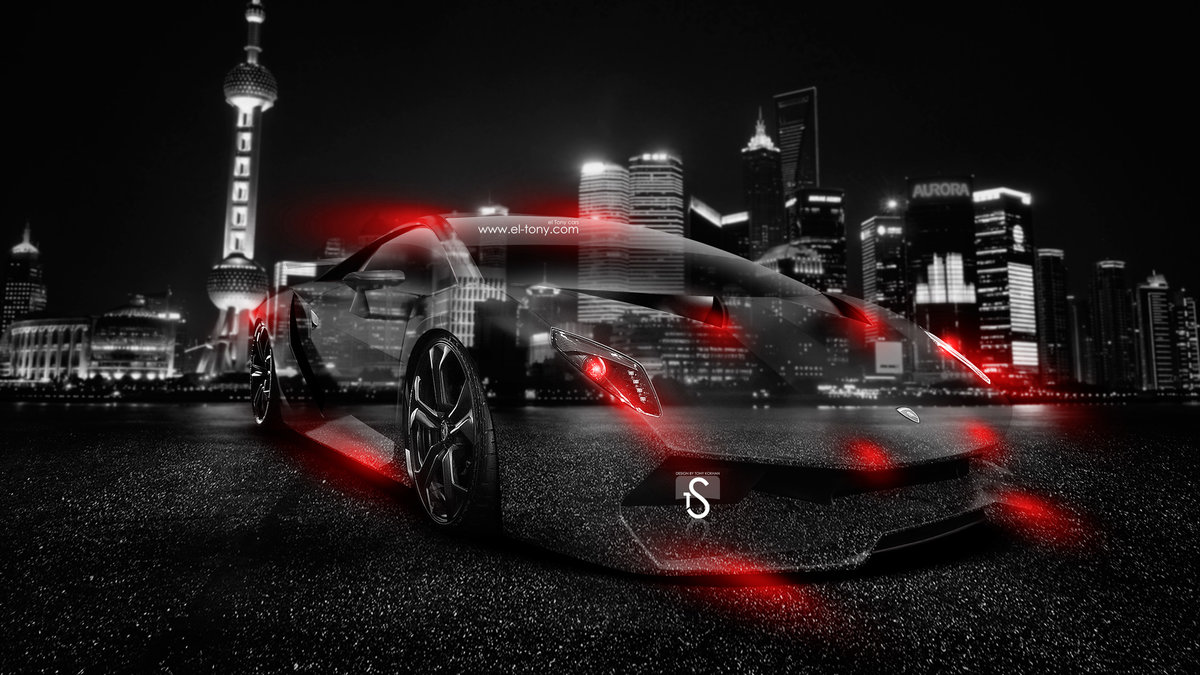 Lamborghini Sesto Elemento Crystal City Car 2014 Red