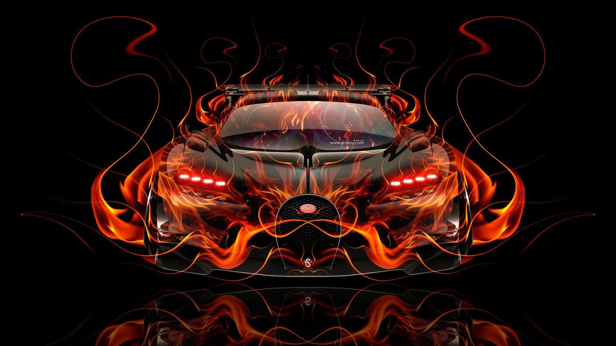 Bugatti Vision Gran Turismo FrontUp Super Fire Flame