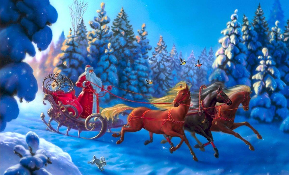 Поздравления, новогодние сказки картинки