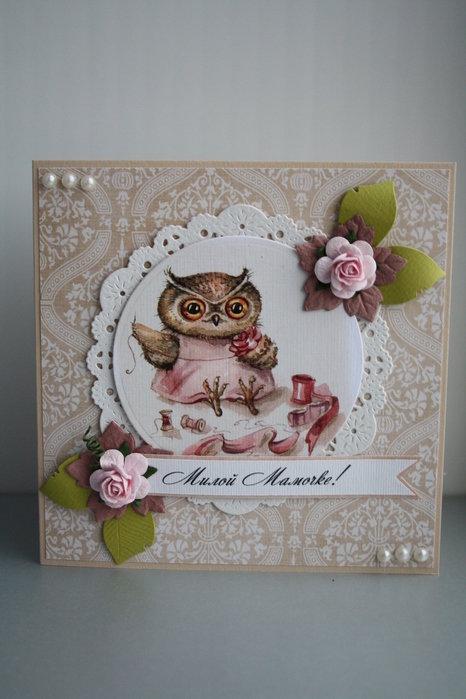Скрап открытки с совой