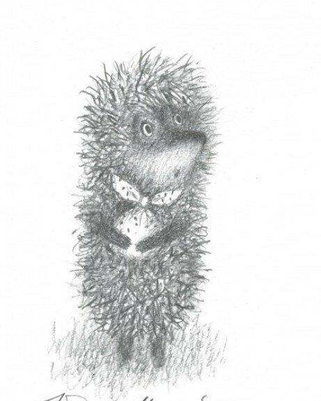 под ежик в тумане картинка черно-белая талантливый