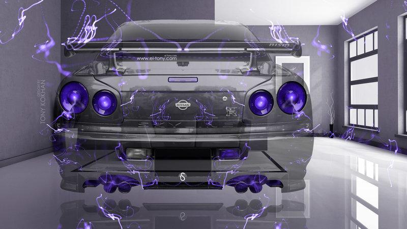 Charmant Nissan Skyline GTR R34 JDM BackUp Fantasy Crystal