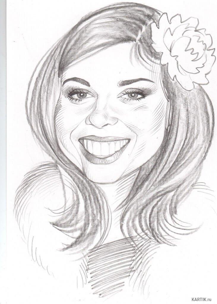 Смешные рисунки женщин карандашом