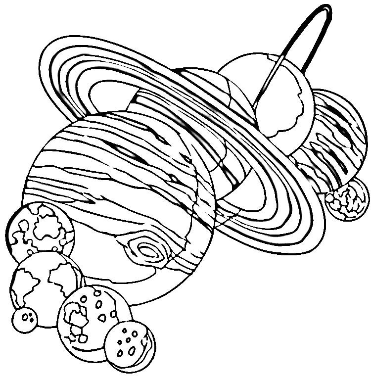 solar system coloring pages - 750×766