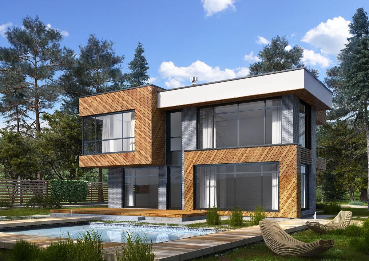 архитектура дома проект фото современный