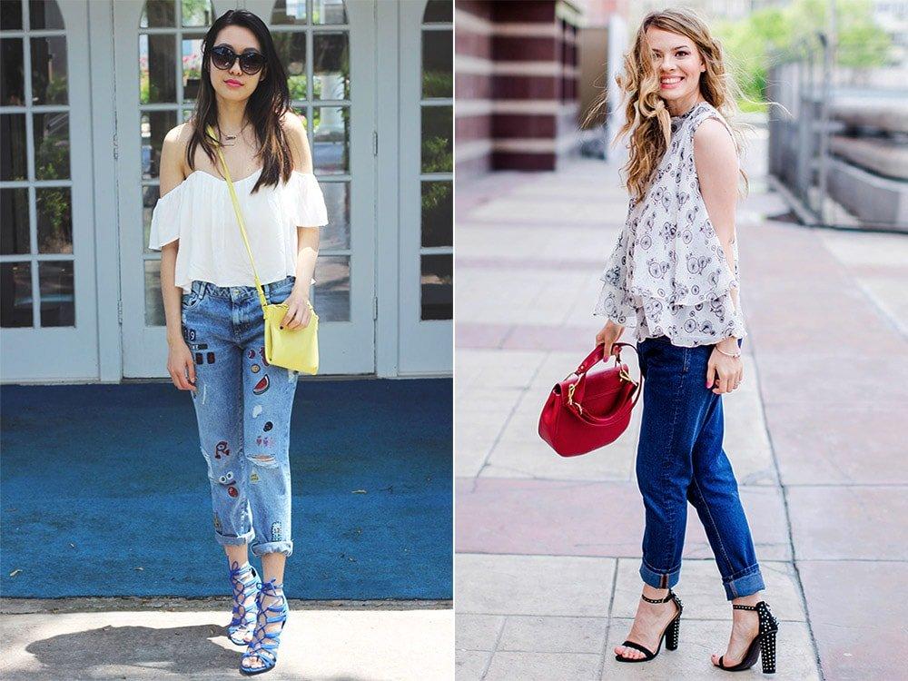 С чем носить джинсы бойфренды: 58 образов с фото