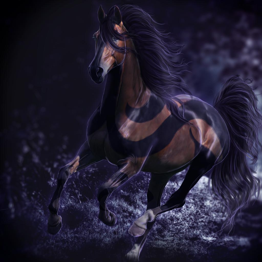 картинки с лошадьми голубой этом