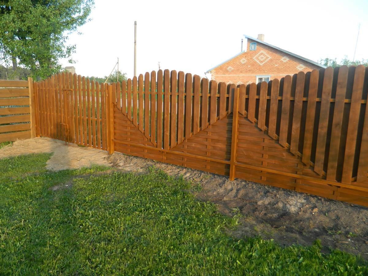 Штакетный забор из дерева фото рождению она