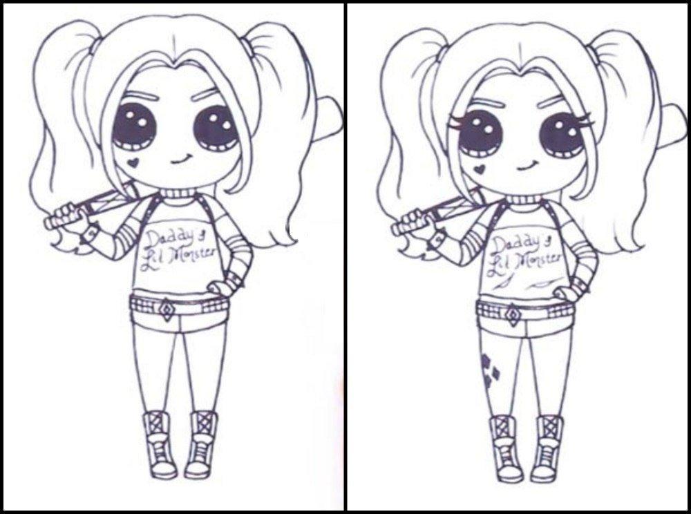 Картинки для срисовки для девочек распечатать