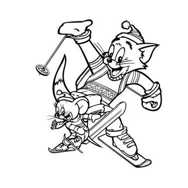 Coloriage Tom Jerry Az Coloriage Yandex To Plamlardagi