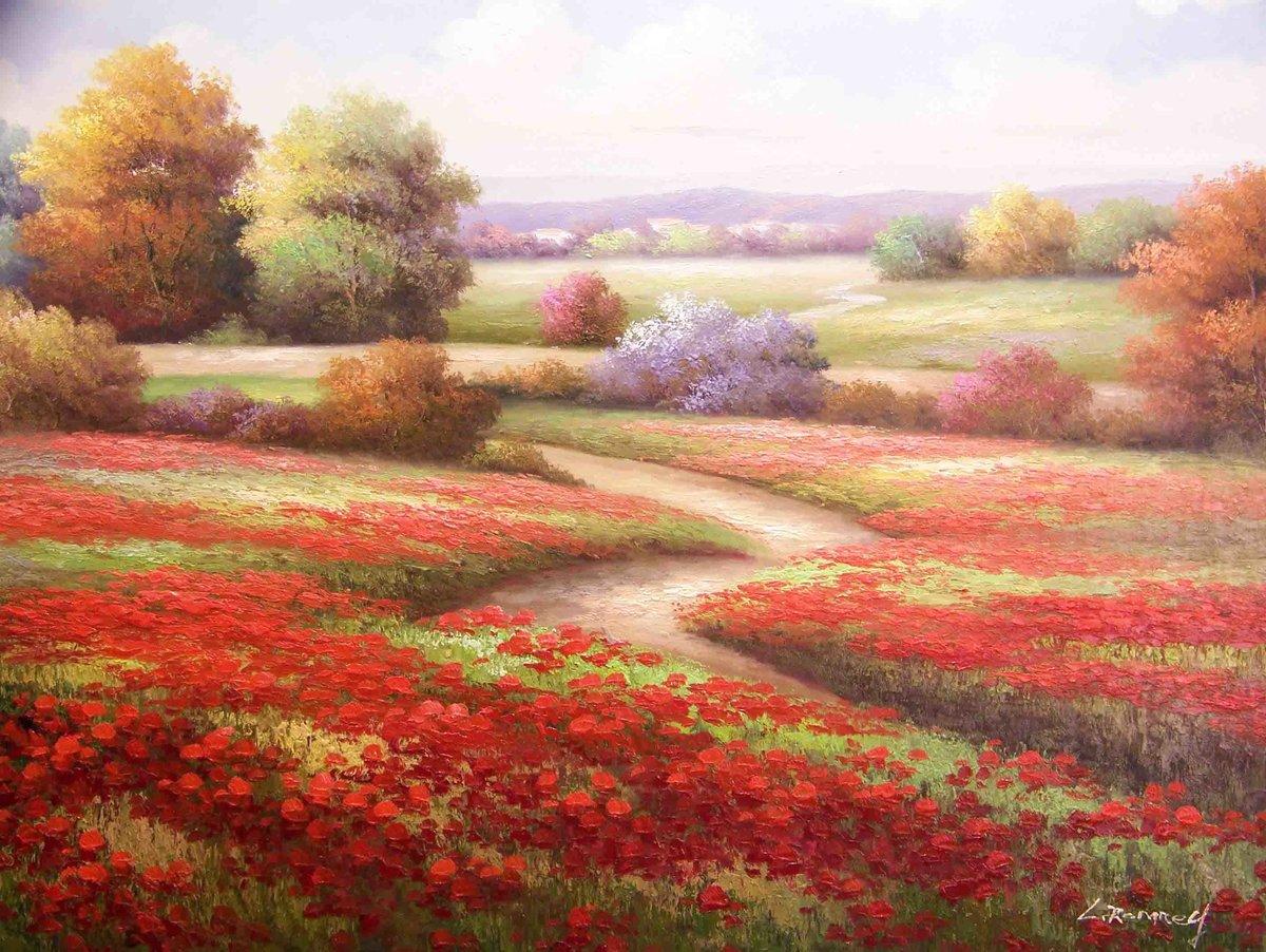 темных пейзаж картинки с цветами картинки