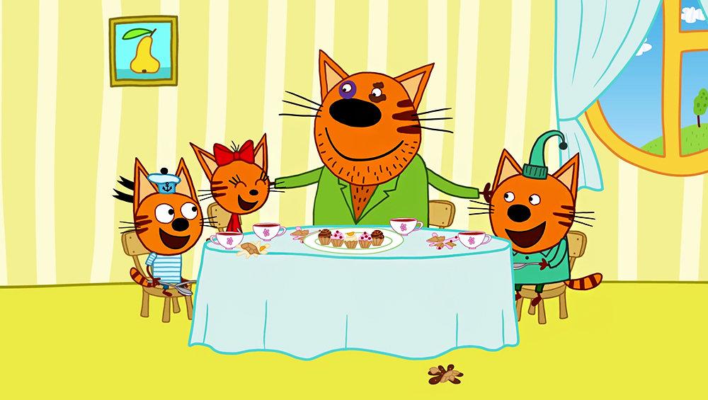 3 кота музыкальная открытка 1 серия, изображением