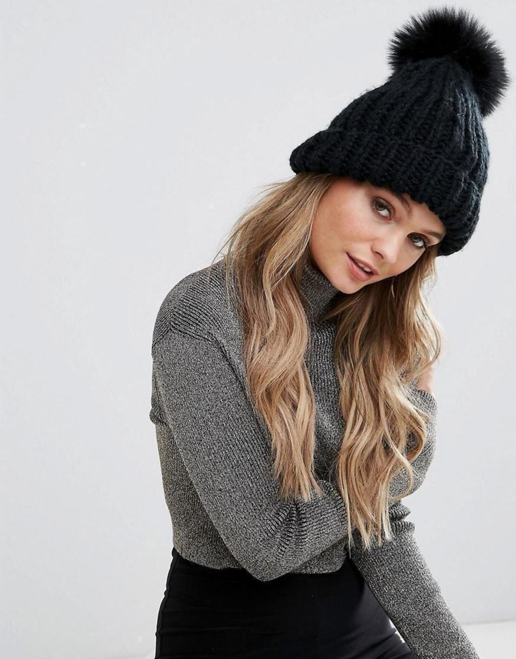 вязаная шапка с чем носить фото вариант