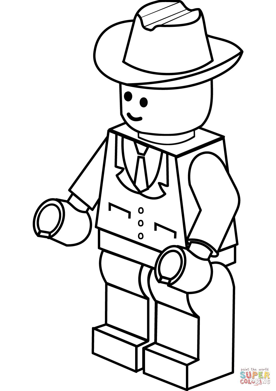 «Раскраска Мужчина в ковбойской шляпе » — карточка ...