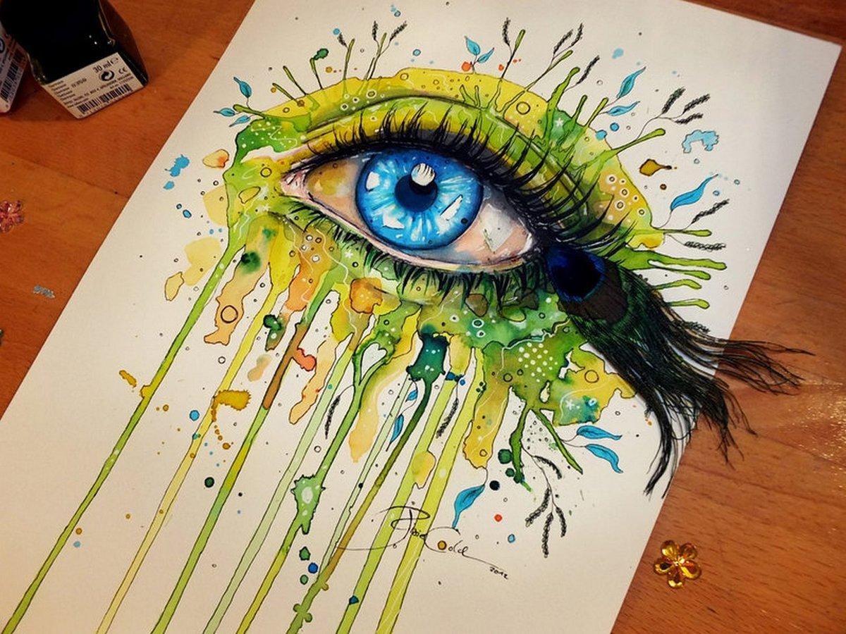 прикольные идеи для рисунков красками