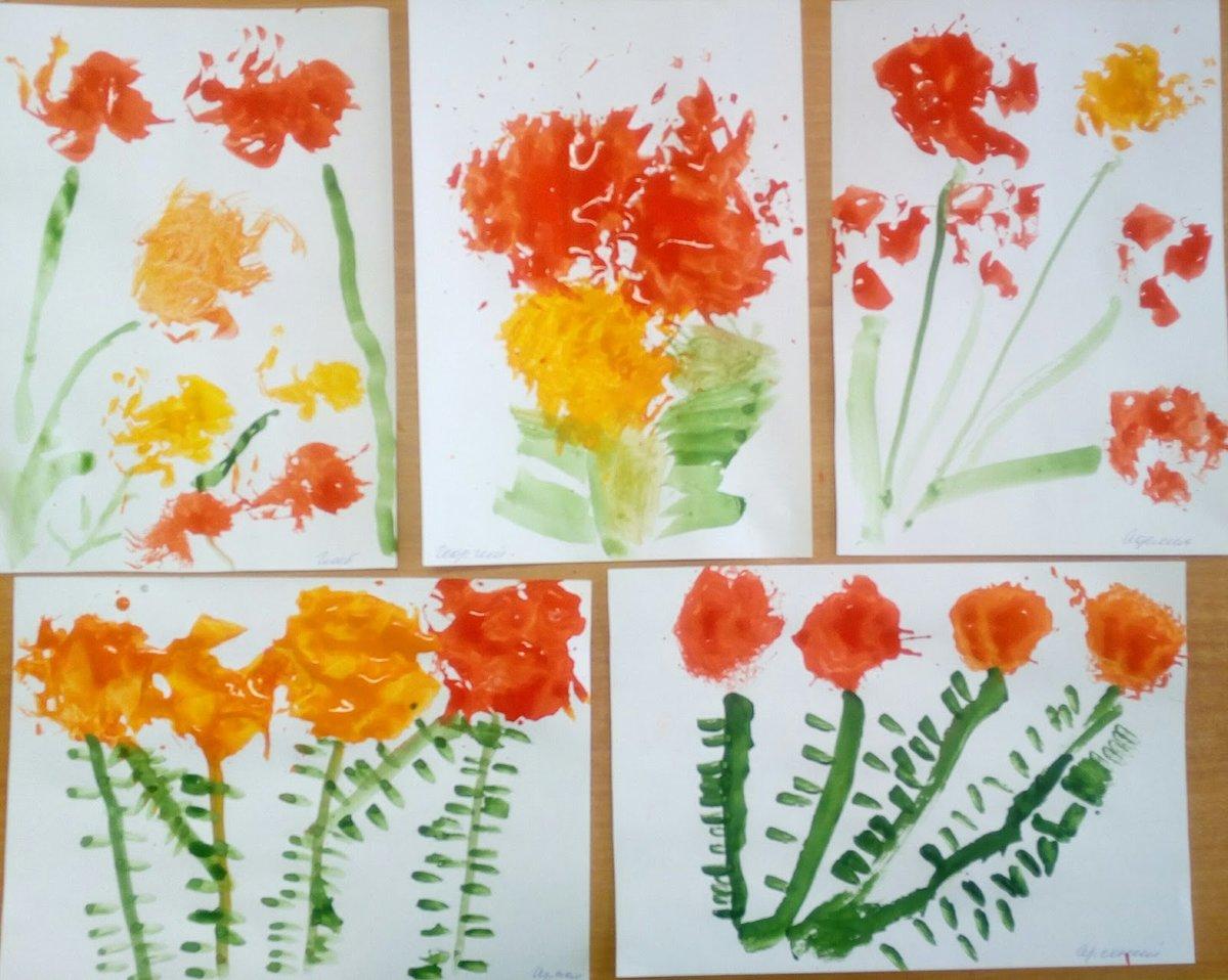 Рисование открытки для мамы нетрадиционные методы