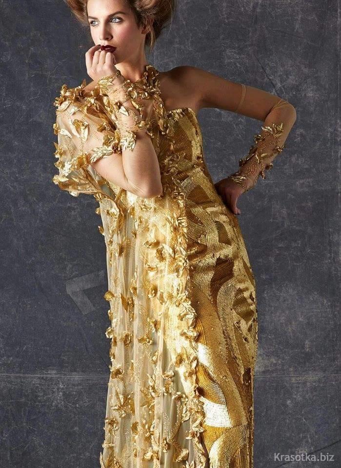 картинки золотого платья самых интересных