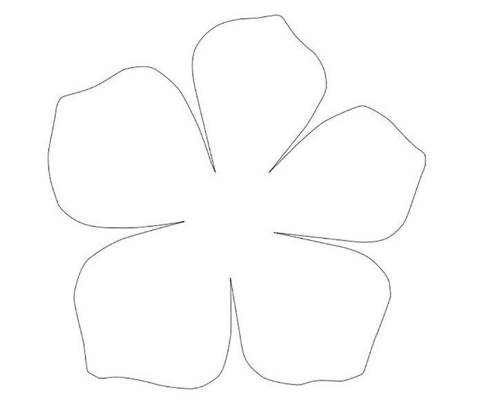 Шаблоны цветочек 5 листочков