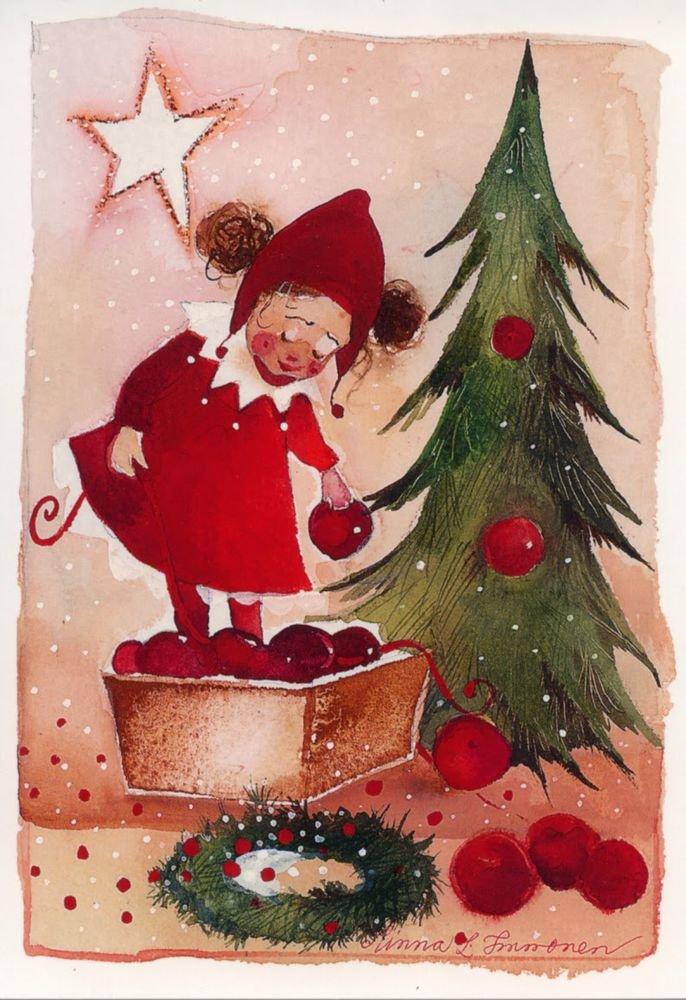 Днем, новогодние открытки рисунки акварелью