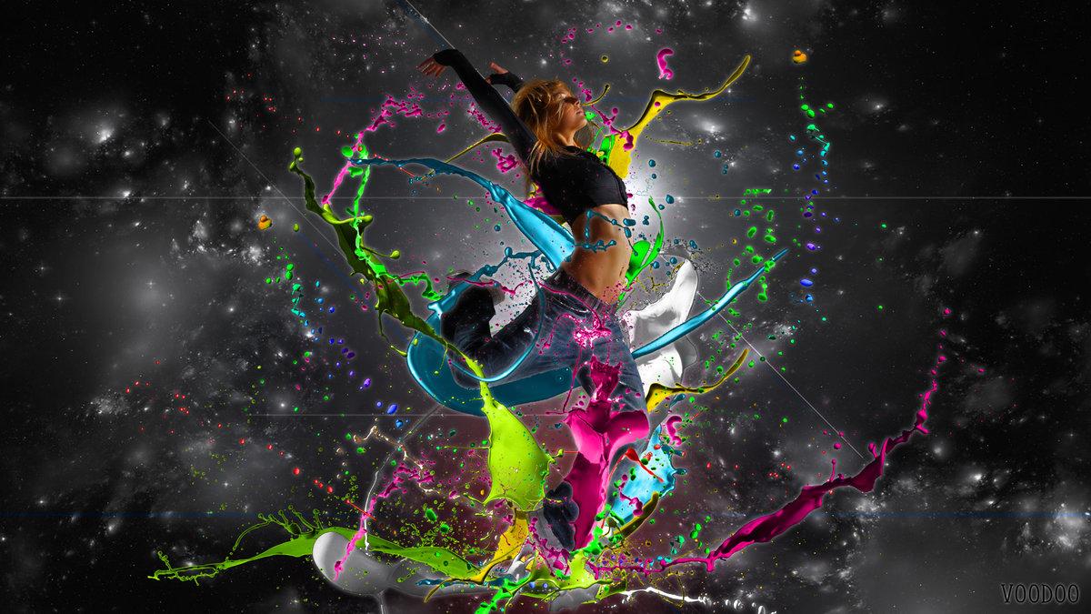 я танцую разноцветные картинки квартирі