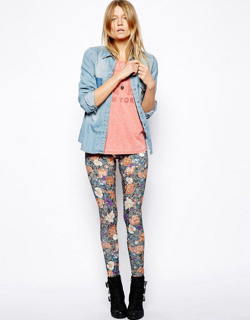 джинсы в цветочек с чем носить фото начинкой как пух