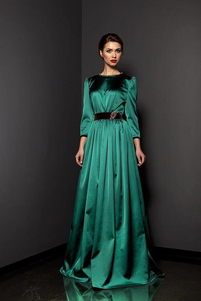 Вечерние платья в пол с рукавом фото