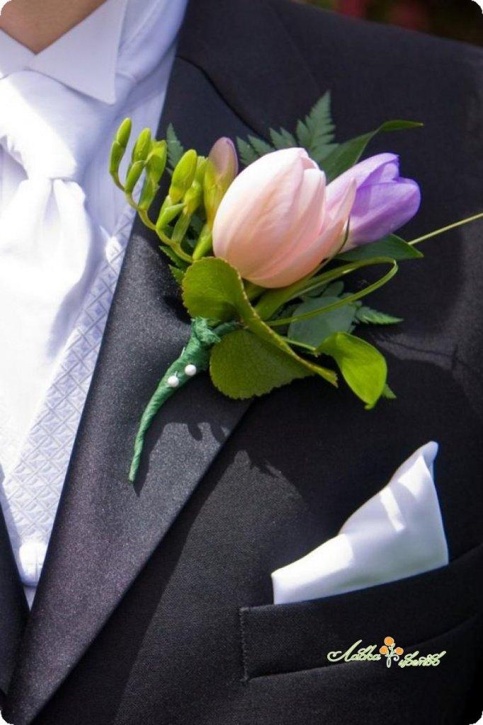 Магазин цветов, оформить букет для жениха