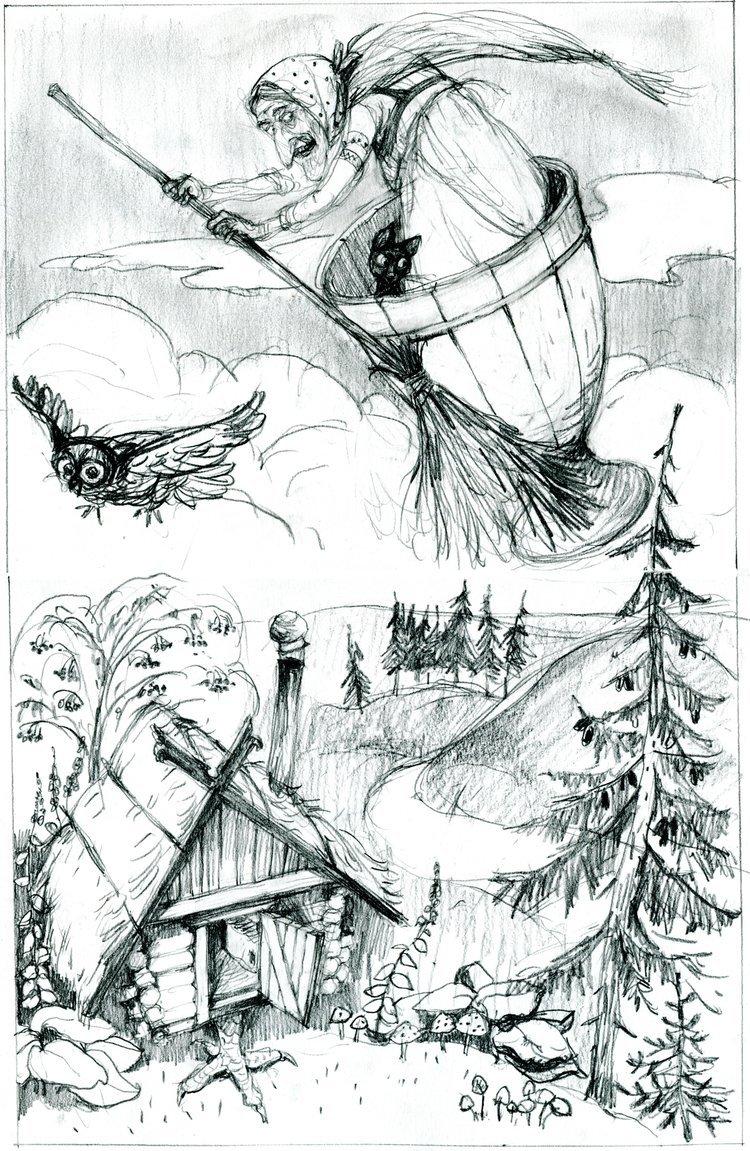 Графические картинки к сказкам