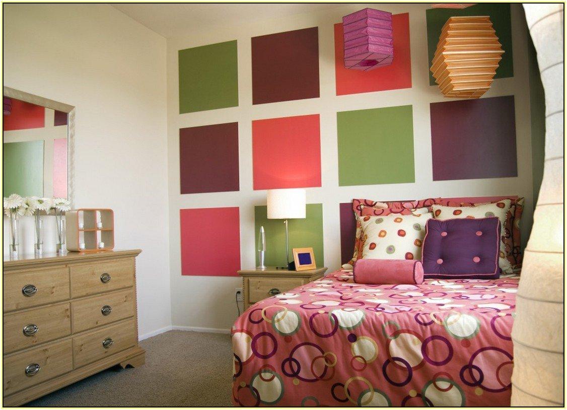 покрасить стены в разные цвета фото для волос