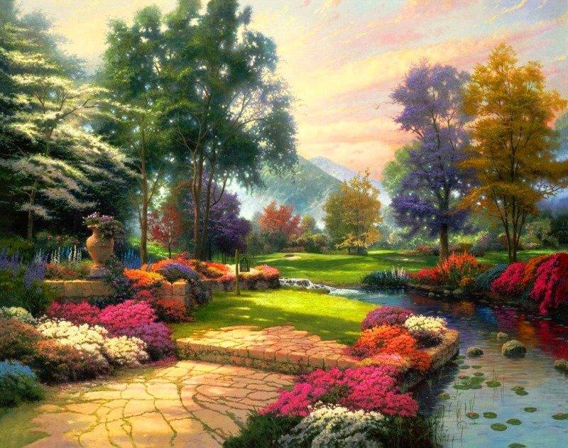 пейзаж в картинках садов самых